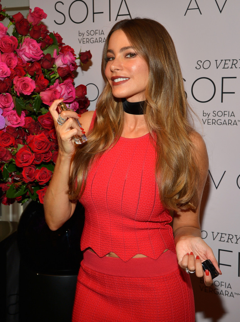 Actress Sofia Vergara poses for Avon at the Four Seasons Hotel  on September 10, 2016 in Los Angeles, California.