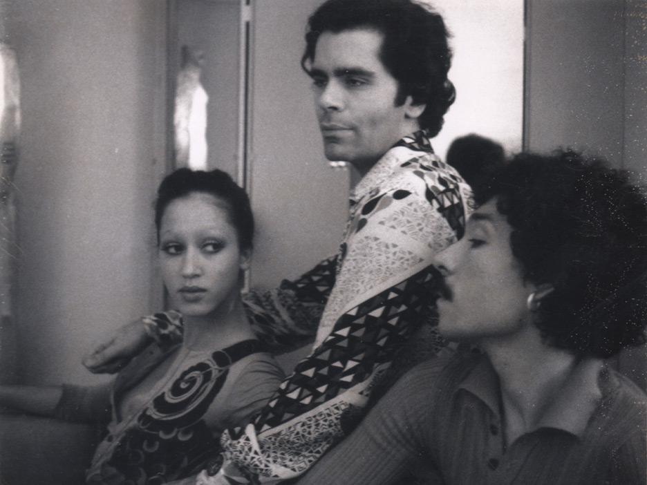 Pat Cleveland, Karl Lagerfeld, Antonio Lopez, Rue Bonaparte apartment, 1970