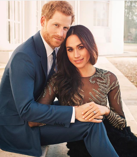 Prince Harry and Ms. Meghan Markle have chosen to release this official portrait photograph to mark their engagement. The photograph was taken by photographer @alexilubomirski earlier this week at Frogmore House, Windsor.